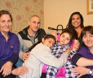 Kayla, her Jessie May nurses and family
