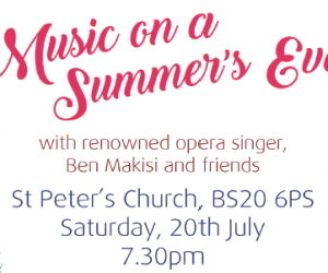 Music on a Summer's Eve - Saturday 20th July 2019