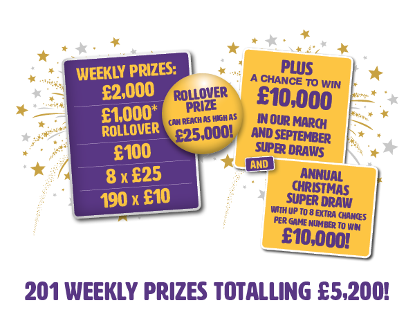 Local Hospice Lottery - Weekly Prizes totalling £5,200!
