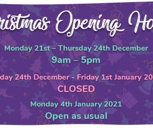 Christmas Opening Hours 2021