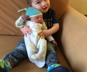 Charlie, and big brother Alfie