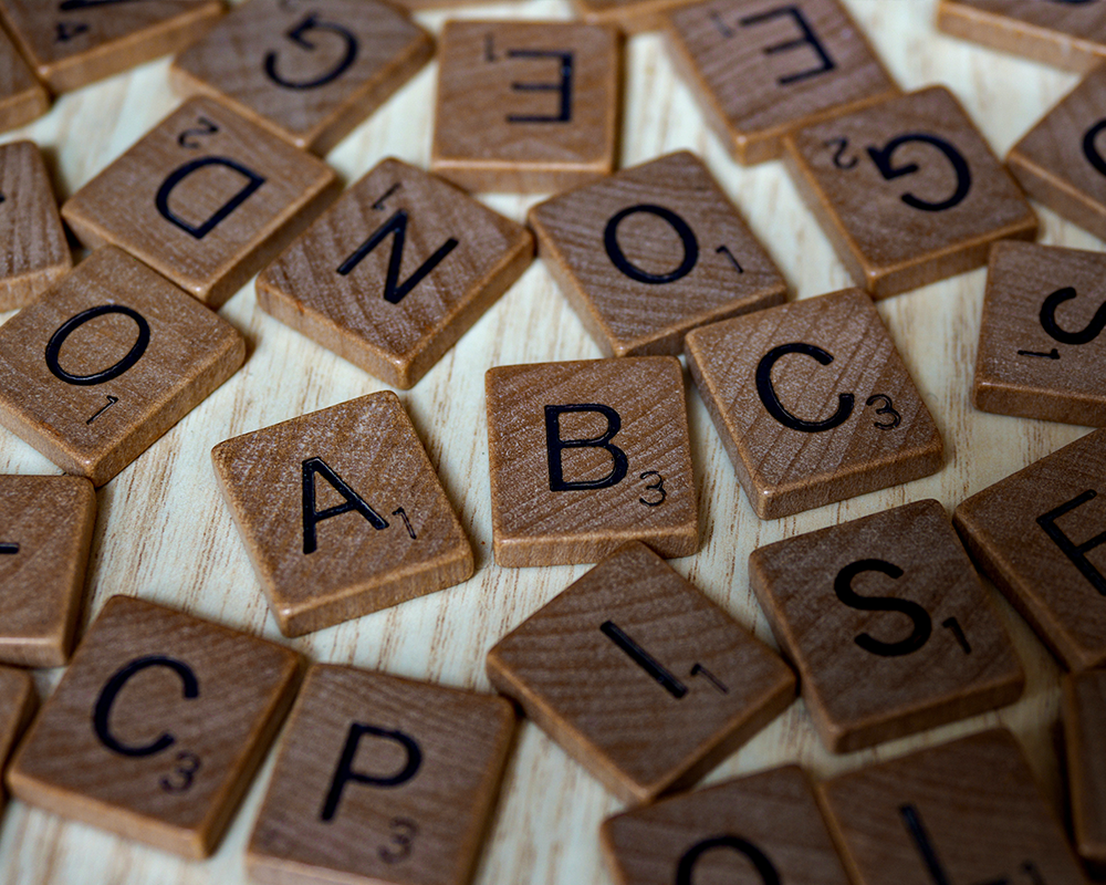 alphabet scrabble tiles