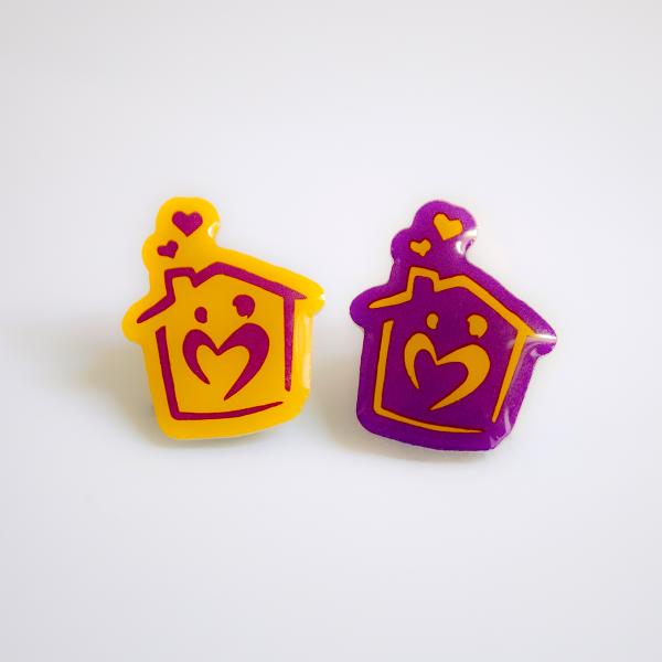 Jessie May Pin Badges - Yellow & Purple