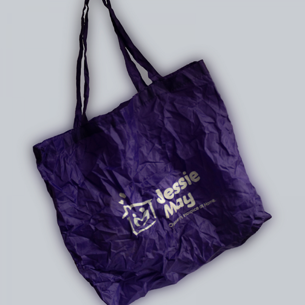 Jessie May Tote Bag - Purple - Unfolded